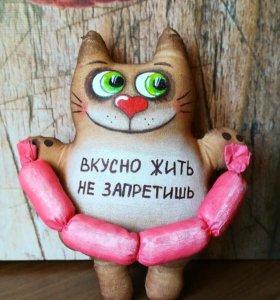 Кот кофейный (ручная работа)