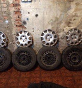 четыре летних колеса в сборе