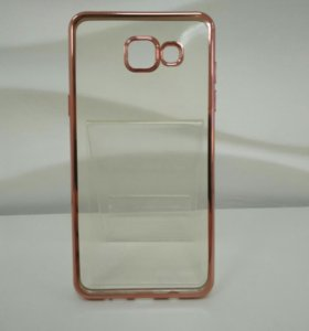 Чехол TPU гальваника Samsung Galaxy A5/2016 Rose