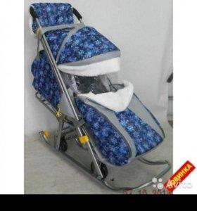 Санки-коляска «Галактика» детям-2