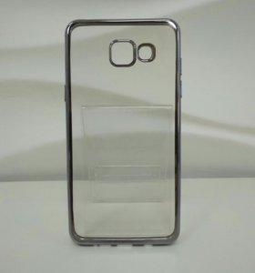Чехол TPU гальваника Samsung Galaxy A5/2016(Grey)