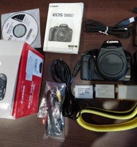 Canon 500d + 3 акума + 2 объектива