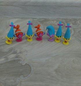 Игрушки из чупа-чупс Тролли