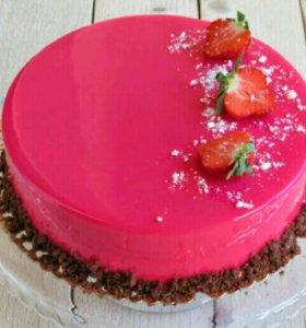 Тортики с глазурью