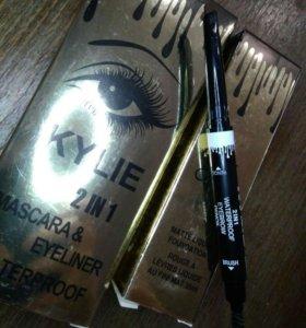 Тушь и подводка+карандаш для бровей+тональный крем