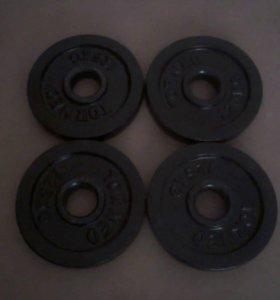 4 Блина стальных Torneo, 1,25 кг