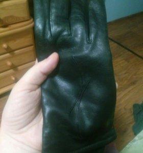 Новые кожаные перчатки женские, р.8