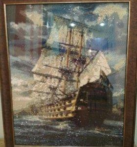 Корабль в шторме