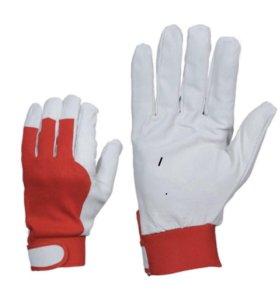 Рабочие перчатки кожаные комбинированные. Размер10