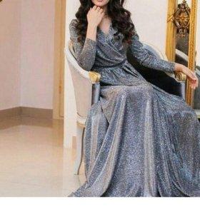 Нарядное шикарное платье хиджаб