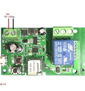 Sonoff32V WiFi реле для автоматики ворот