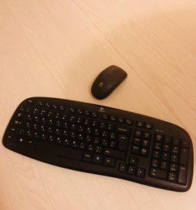 Беспроводная клавиатура+мышь Logitech