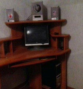 Компьютер,монитор , процессор, колонки