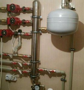 Сантехнические работы отопление водоснабжение тепл