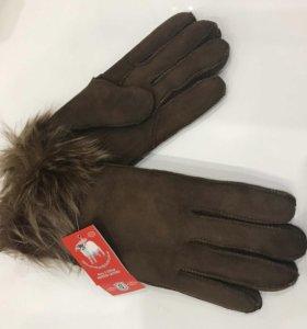 Перчатки новые Натуральная замша