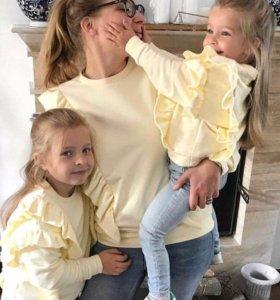 Комплект кофточек для мамы и дочки,новые🏷