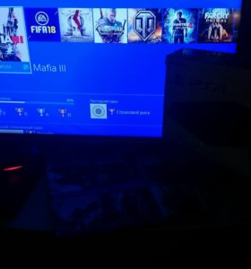 Sony PlayStation slim 500gb + 2 джойстика и 6 игр