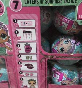 ЛОЛ, LOL, кукла, сюрпризы 18шт