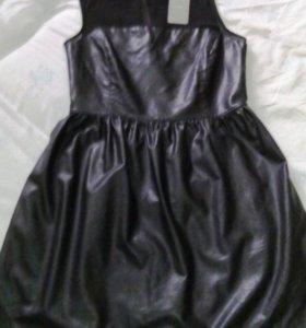 Новое платье бренд под кожу с гипюр Испания