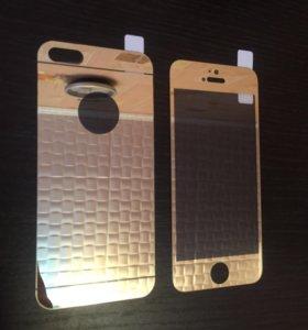 Защитное стекло на iPhone 5, 5s, 5SE