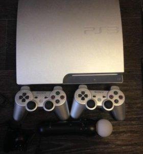 PS3 500Gb+ Move+ Camera+ игры+ 2джоста