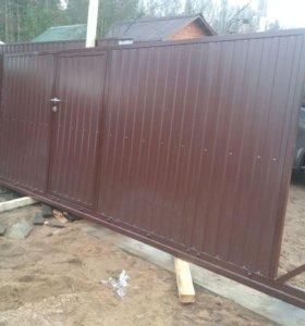 ■Гостилицы ■ Ворота откатные ■ Установка под ключ