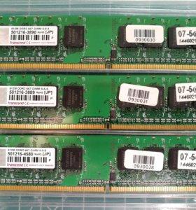 DDR2 512Mb x3 Transcend