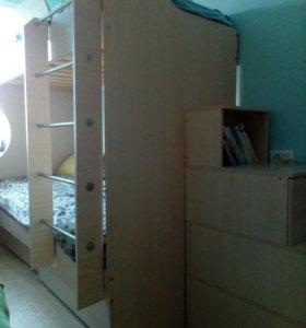 Детская 2х ярусная кровать