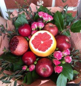 Букет из фруктов 🍊🍎🍇