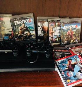 PS3 super slim 500Gb(+8 игр)