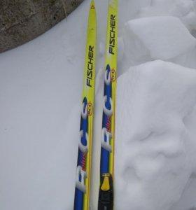 Лыжи Fischer rcs 195 skate + Salomon SNS Pilot