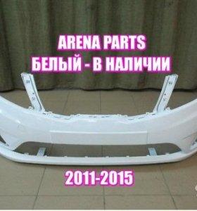 KIA RIo 3 кузов 2011-2016 бампер передний белый
