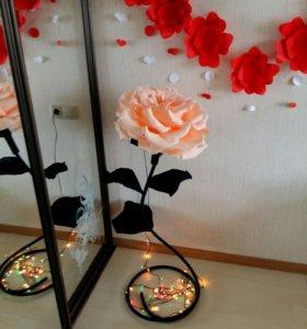 Большие цветы Роза