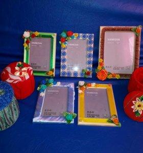 Рамочки для фото и шкатулки