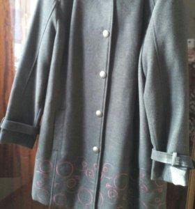 Пальто куртка с капюшоном