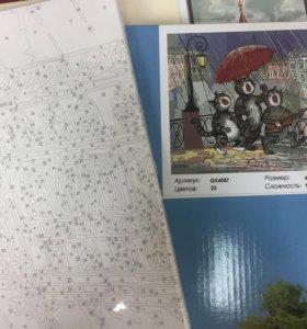 Питерские коты.Картина по номерам на холсте