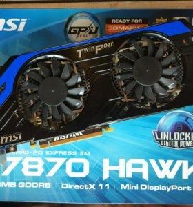 Radeon MSI 7870 hawk 2gb