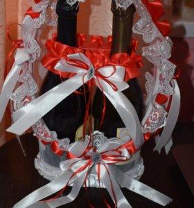 Свадебная корзина -арка для шампанского