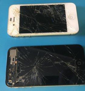 Два iPhone 4s на запчасти