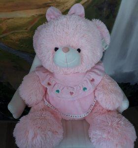 Мишка розовый новый