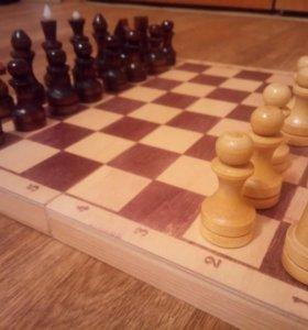 Шахматы из дерева новые
