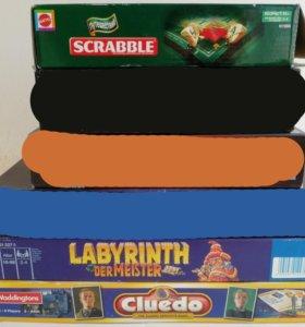 Cludeo Labyrinth Scrabble дорожный настольные Игры