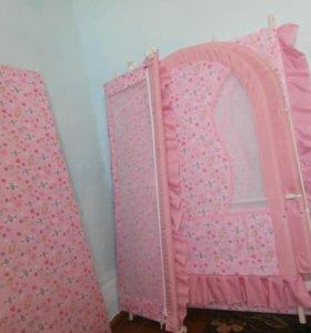 детская кровать, манеж для девочки
