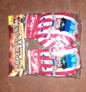 Новые перчатки для бокса детские