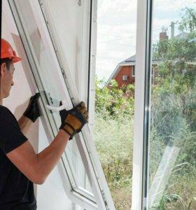 Замена разбитых стекол и стеклопакетов