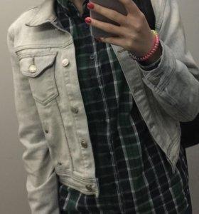 укороченная джинсовая куртка