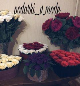 Цветы из гофрированной бумаги🌹🌹🌹