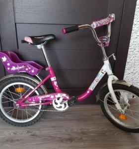Детский 4х колесный велосипед для девочки