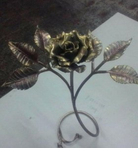 Роза, ковка, подарок.