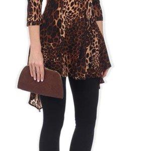 Леопардовая туника-платье
